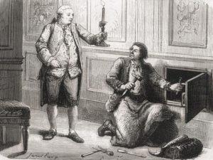 """Luigi XVI ordina al fabbro Francois Gamain la costruzione del famoso """"armadio di ferro"""""""