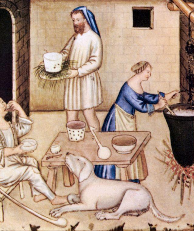 Scene di vita familiare nel Medioevo