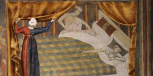 Una coppia nel Medioevo. Il sesso era vietato in alcuni giorni