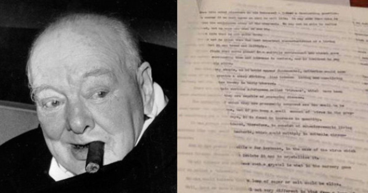 Winston Churchill and about extraterrestrials document 1939