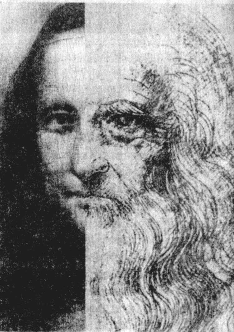 I volti di Leonardo e della Gioconda, una delle sue opere più celebri. L'artista e scienziato aveva, a quanto pare, il gusto della battuta e della barzelletta salace