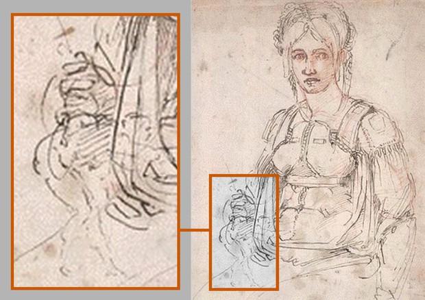 autorretrato (oculto) Miguel Ángel descubrió en su trabajo ...