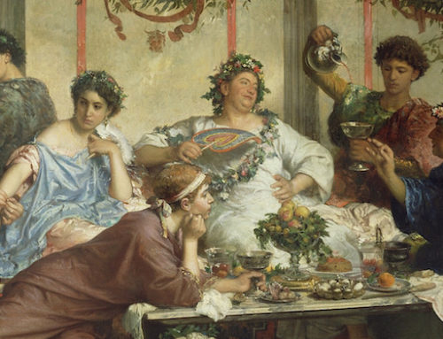 Banquets in Ancient Rome: Slaves for collecting Vomiting